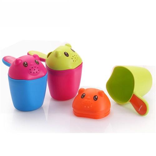 【Babyhood】小熊熊洗頭杯-綠 / 桃 2