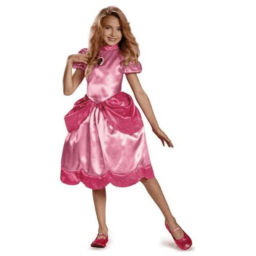 pure costumes princess peach girls costume nintendo super mario