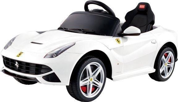 *美馨兒* 法拉利Ferrari F12-搖控兒童電動車(白色可挑) 5680元