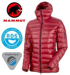 【Mammut長毛象瑞士】BroadPeakPro連帽羽絨外套羽絨夾克羽絨衣連帽羽毛外套頂級鵝絨女款甜菜根(00340-3490)