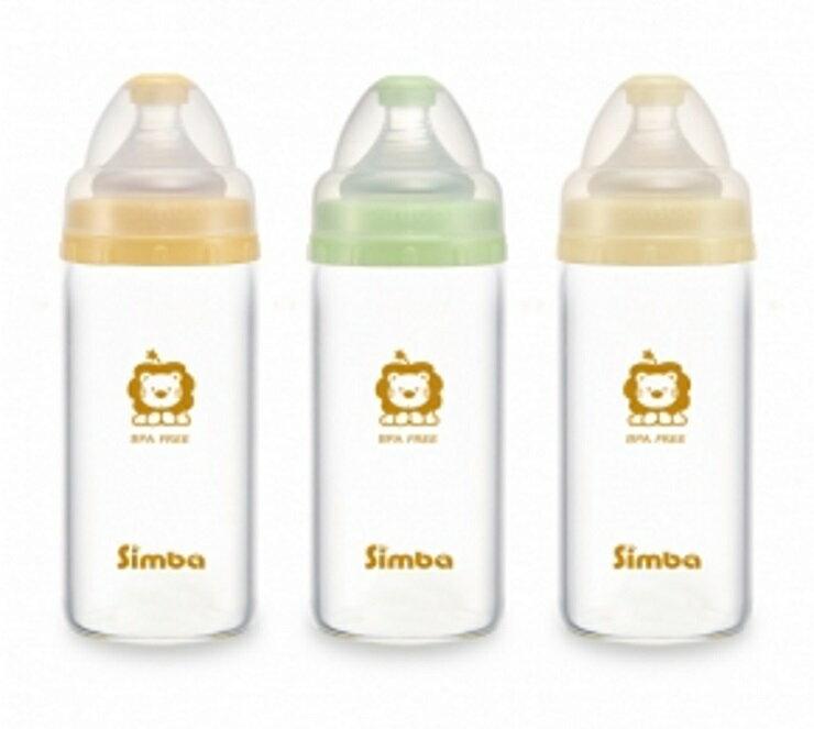 小獅王辛巴超輕鑽寬口直圓玻璃小奶瓶180ml【寶貝樂園】