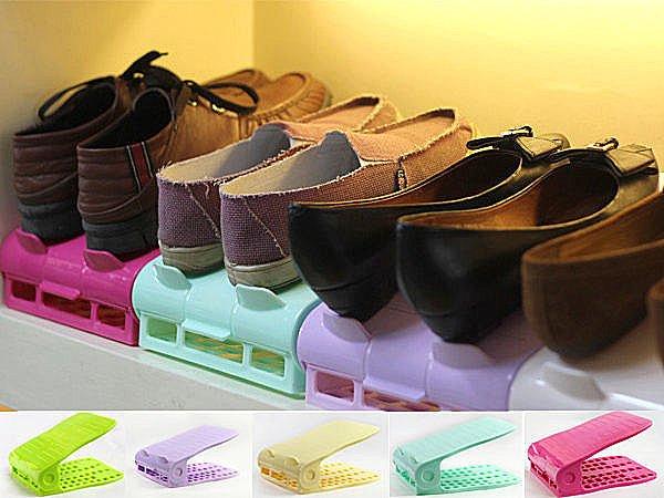 BO雜貨【SV2339】第二代簡易可調式雙層收納鞋架 鞋子收納 鞋盒 鞋櫃 高跟鞋收納