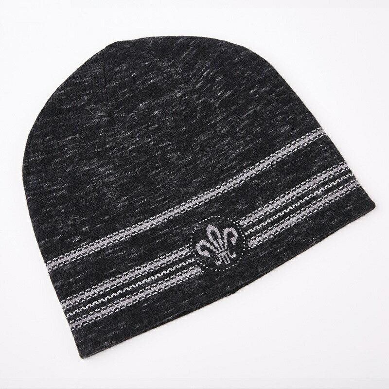 毛帽羊毛針織帽-護耳條紋提花捲邊男帽子2色73wj32【獨家進口】【米蘭精品】 2