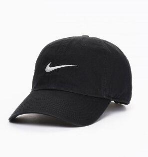 美國百分百【全新真品】Nike高爾夫球帽耐吉帽子遮陽帽棒球帽運動輕量魔鬼沾配件男帽黑色C880