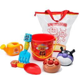 日本 ANPANMAN 麵包超人 玩沙工具組/沙灘玩具/洗澡玩具