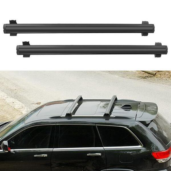 Black Front and Rear Roof Rack Cross Bars Set For 2011-2016 Jeep Grand Cherokee 0