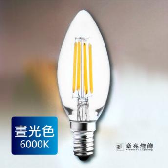 LED E14 4W燈泡 尖尾^(白光^) 6000K^~吊扇 涼扇 風扇 24W 18W