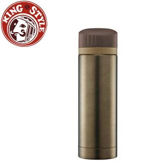 金時代書香咖啡 Tiamo 馬卡龍輕甜系列 隨手杯300cc 保溫瓶 咖啡色