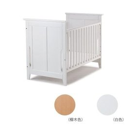 『121婦嬰用品館』baby City 櫸木嬰兒床-原木色/白色 (附彈簧床墊)
