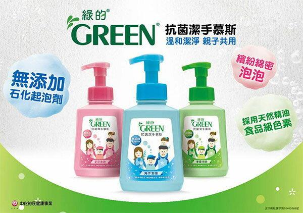 【綠的GREEN】抗菌潔手慕斯-草原泡泡500ml 2