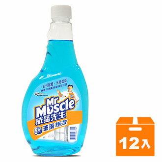 威猛先生 玻璃穩潔 重裝瓶 500g (12入)/箱