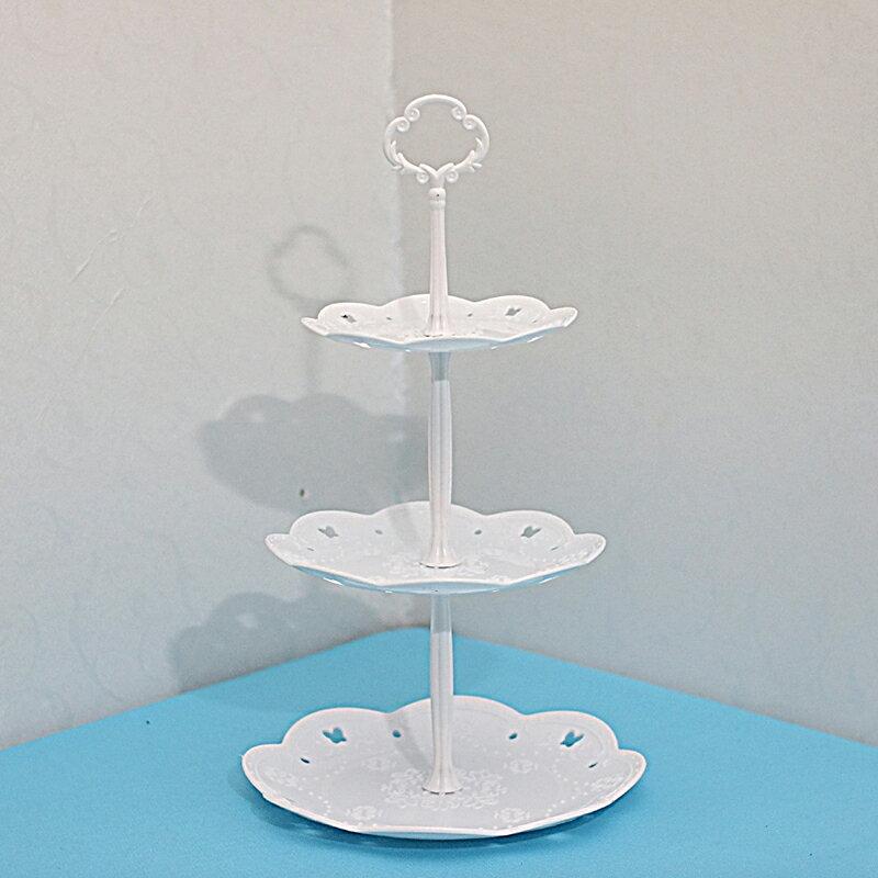 點心架 派對裝飾生日甜品台擺件塑料蛋糕點心托盤冷餐茶現果盤創意展示架【全館免運 限時鉅惠】