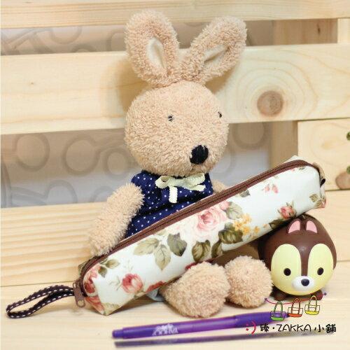 Dolly club 朵莉俱樂部~~小圓筆袋~米白玫瑰~^~臻ZAKKA小舖^~防水包包雜