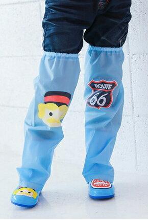 Kocotree◆ 雨天必備時尚可愛防水卡通腳套過膝雨鞋套兒童腿套-童話卡通X藍色