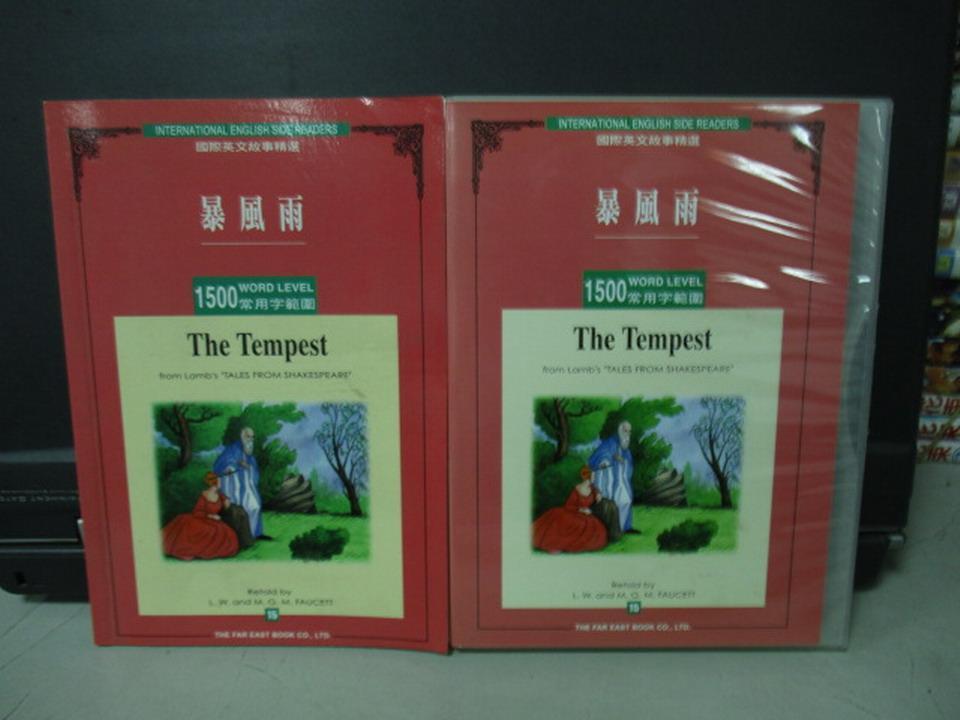 【書寶二手書T7/語言學習_KDC】國際英文故事精選之1500常用字-暴風雨_L.Faucett_1書+1光碟合售_附殼