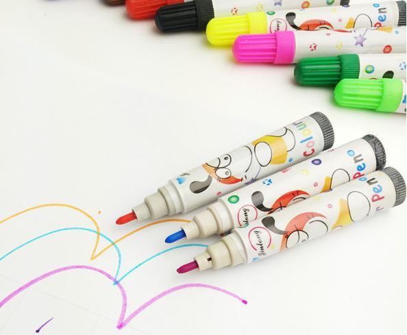 水彩筆套裝12色批發兒童塗鴉繪畫筆無毒文具學畫畫圖畫 1