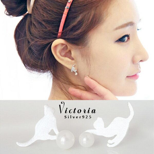Victoria:S925銀OL必備新品,防過敏耳環-維多利亞160570