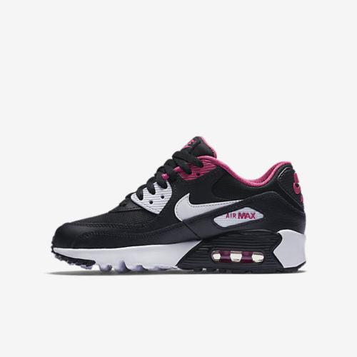 NIKE AIR MAX 90 MESH GS 女鞋 大童鞋 慢跑 休閒 復古 氣墊 黑 粉 【運動世界】 833340-002