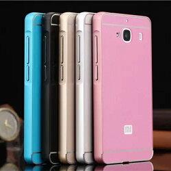 【清倉】小米 紅米 2 金屬邊框+壓克力背板二合一手機殼 Xiaomi 紅米 2 手機保護殼 手機邊框 手機背殼