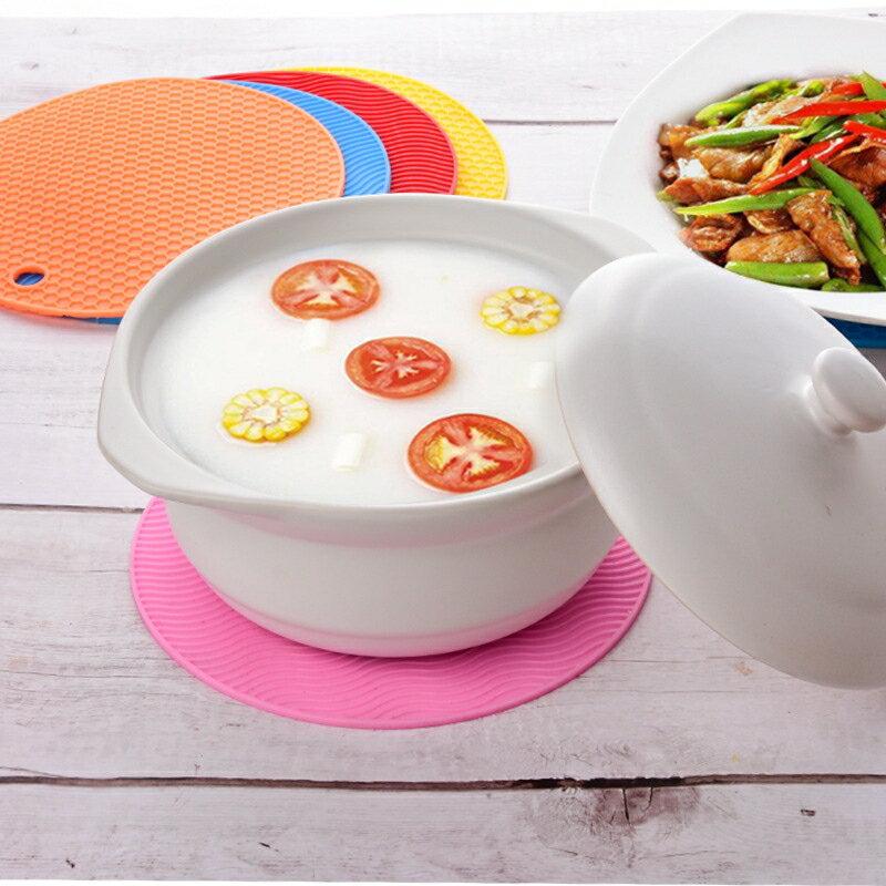 圓形條紋形TPE隔熱墊 蜂窩鍋墊餐杯墊防滑隔熱墊 防熱餐墊桌墊