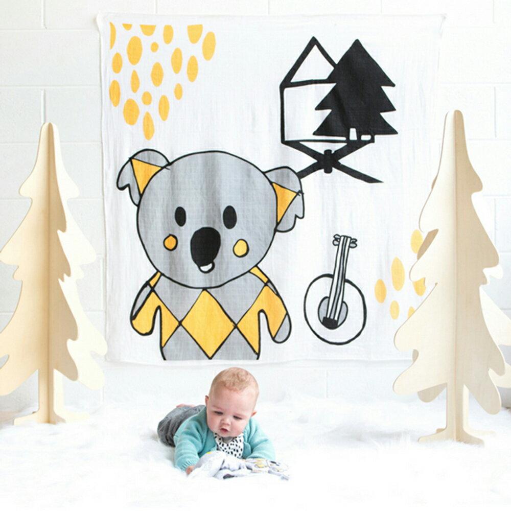 Kippins 澳洲 有機棉包巾 / 動物造型包巾 – 可愛無尾熊 BANJO KIPPINTALE