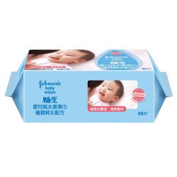 嬌生 嬰兒純水柔濕巾 棉柔加厚型 80片/包
