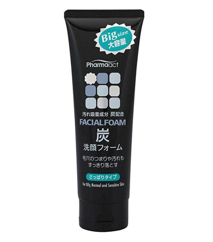 日本 熊野油脂 黑炭洗面乳160g