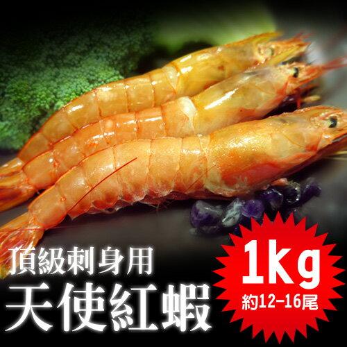 【築地一番鮮】刺身用-頂級大SIZE天使紅蝦1kg (1kg約12-16尾媲美日本牡丹蝦高級海紅蝦可生食) 加購第二組↘758元