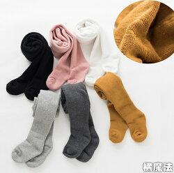 童裝 加厚毛圈素色褲襪 小中大童褲襪 兒童襪 橘魔法Baby magic 現貨 過年 洋裝搭配