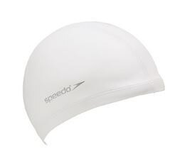 [陽光樂活]SPEEDO 成人 合成泳帽 Ultra Pace SD8017310003白