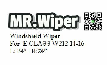 MR.Wiper Mercedes Benz E~CLASS W212 2014~2016  軟骨雨刷