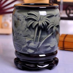 禮邦一帆風順筆筒擺件創意 現代家居辦公禮品裝飾品工藝品擺設