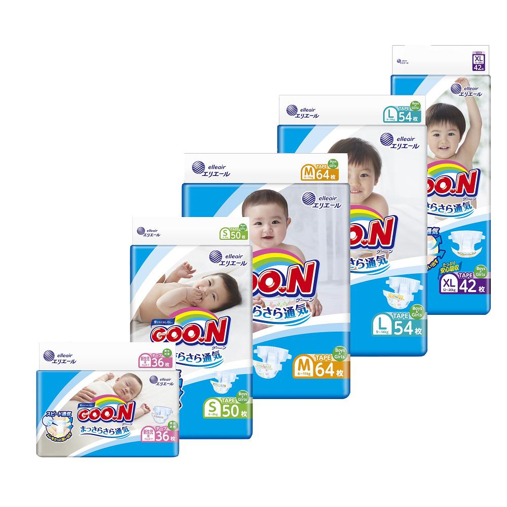 日本大王GOO.N紙尿褲黏貼型-境內版/箱購 S*200片