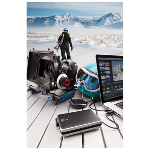 WD My Passport Pro WDBRMP0020DBK-NESN DAS Array - 2 x HDD Supported - 2 TB Installed HDD Capacity - 2 x Total Bays - Thunderbolt - 0, 1, JBOD RAID Levels Portable 3