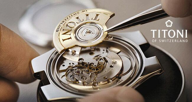 TITONI瑞士梅花錶空中霸王系列23743SY-582單鑽大方機械腕錶