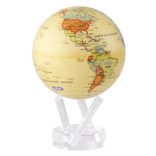 賽先生科學工廠|MOVA光能地球儀-米色(小4.5吋)