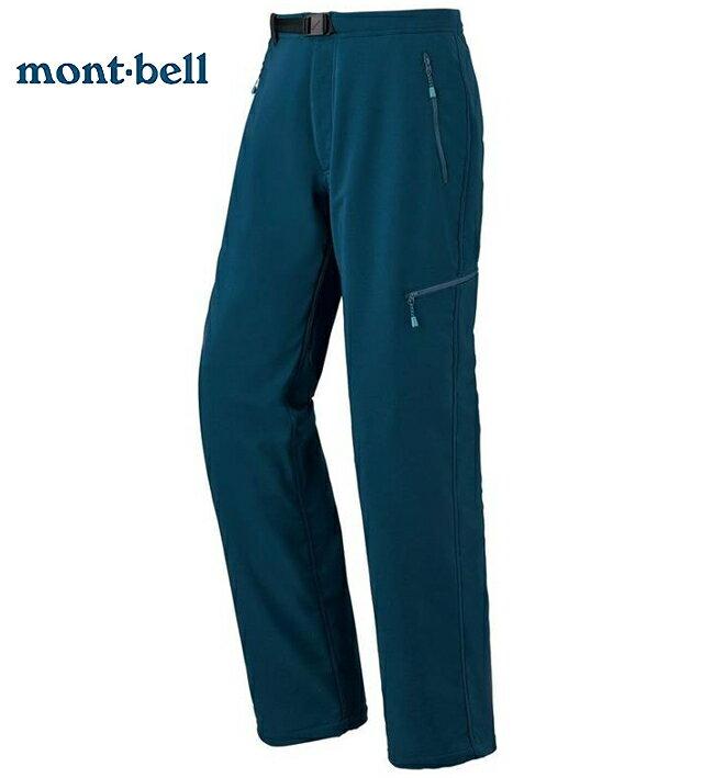 Mont-Bell 休閒保暖長褲/登山褲/防潑水抗風/NOMAD 男款1105496 BLBK 藍黑