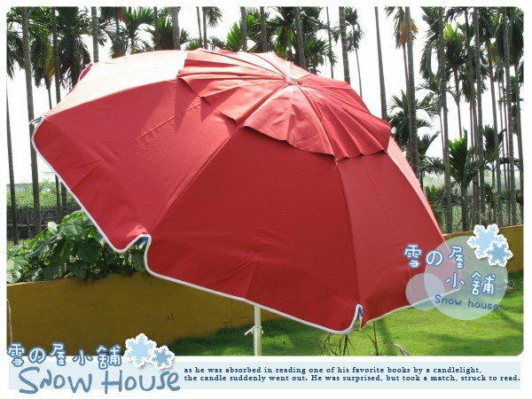 ╭☆雪之屋小舖☆╯@特價優惠中@《蘋果紅》40吋釣魚傘---海灘傘太陽傘/抗UV