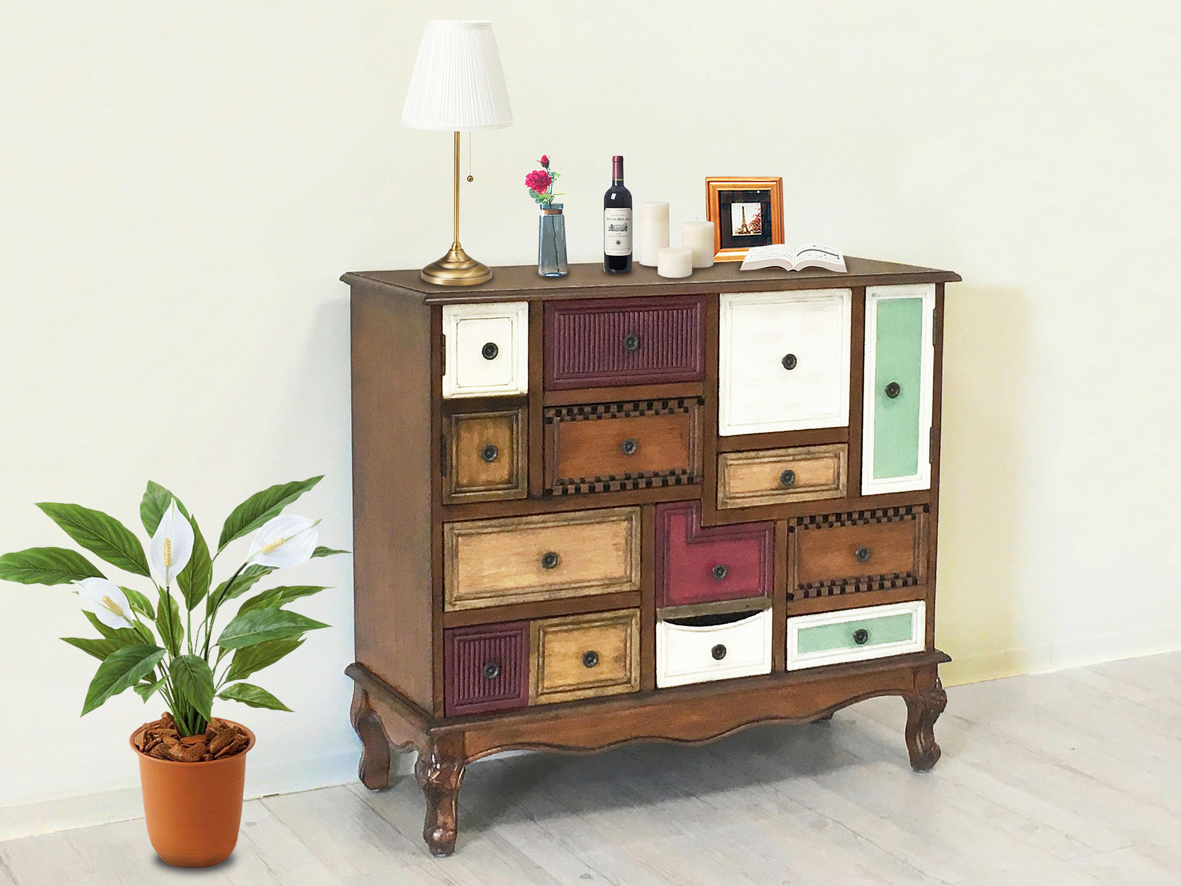 【新生活家具】玄關櫃 功能櫃 置物櫃 斗櫃 收納櫃《愛麗絲》胡桃色 美式 古典 復古 非 H&D ikea 宜家