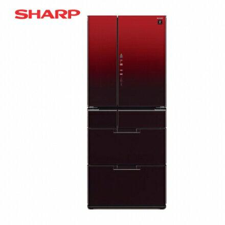 ?SHARP 夏普?601公升 日本原裝六門變頻環保冰箱-星鑽紅 SJ-GF60BT-R