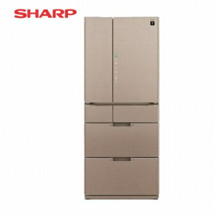 ?SHARP 夏普?601公升 日本原裝六門變頻環保冰箱-星鑽棕 SJ-GF60BT-T