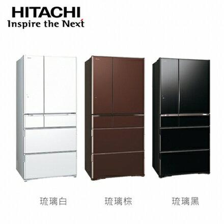 ?HITACHI 日立家電?日本原裝670公升 六門變頻電冰箱-琉璃白/ 琉璃棕/ 琉璃黑-RG670GJ
