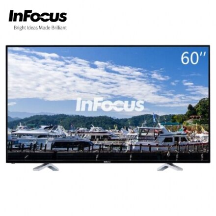?InFocus 富可視?超視?60型 4K智慧連網液晶電視顯示器+視訊盒 FT-60CA601+TXPD02(附贈無限歡唱棒)