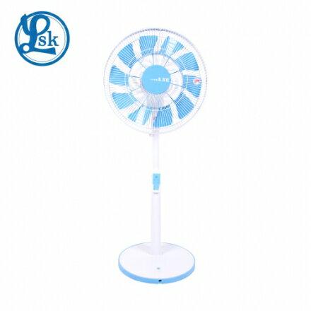 【LSK 樂司科】AirFly光之蝶 14吋 DC直流節能循環立扇 電風扇 -藍(LSK-DC001-B)