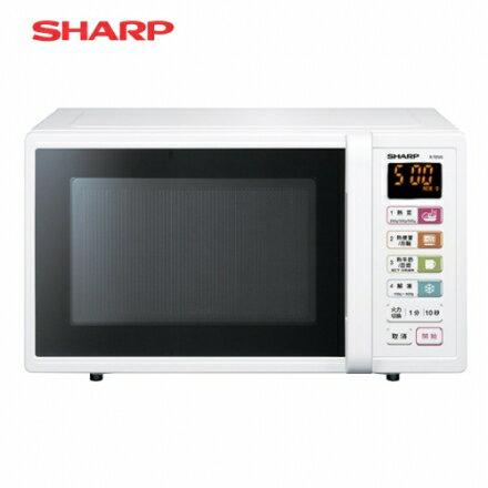 【SHARP 夏普】25公升 微電腦微波爐-白(R-T25JS(W)