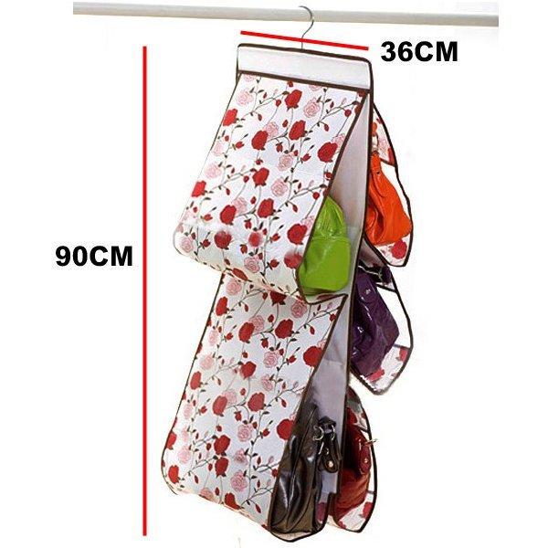浪漫玫瑰 玫瑰花包包收納袋 五層包包整理袋 收納掛袋 收納包 掛袋 防塵袋 ~真愛香水~