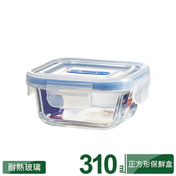 理想牌英國皇家微波烤箱耐熱玻璃保鮮盒正方形310ml便當盒野餐盒-大廚師百貨
