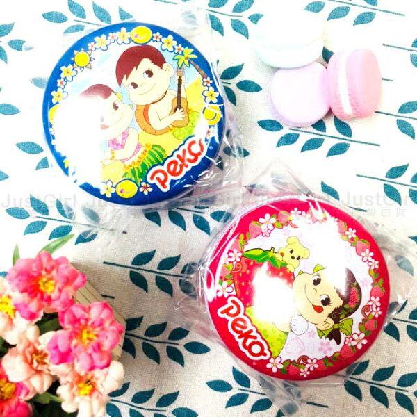 不二家牛奶糖圓罐夏威夷草莓鐵圓罐40g食品日本製造進口JustGirl