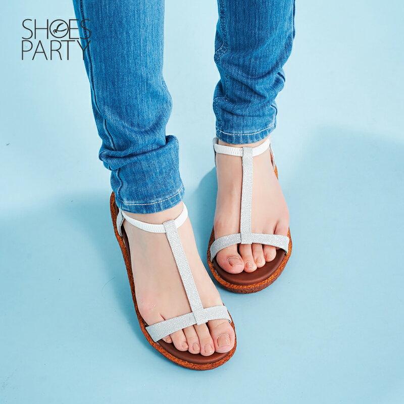 【S2-17623L】Simple+久走不累亮晶晶T字涼鞋_Shoes Party 3