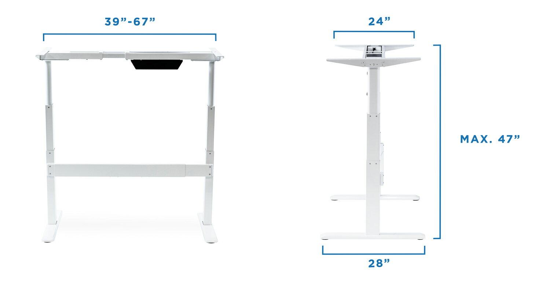 mount it mount it electric stand up desk frame only dual motor height adjustable standing. Black Bedroom Furniture Sets. Home Design Ideas